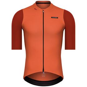 Etxeondo Alde Koszulka rowerowa z zamkiem błyskawicznym Mężczyźni, pomarańczowy
